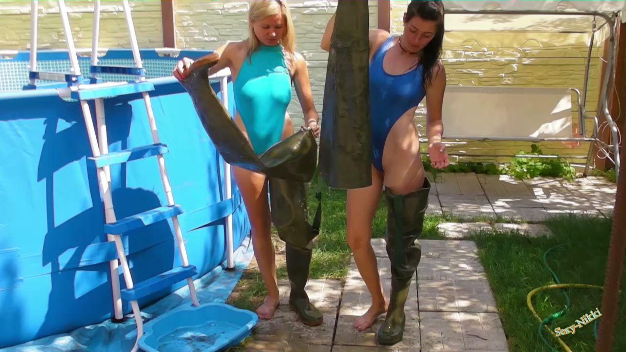 Эффектные сливы воды из сапог. Waders-and-swimsuits_2_6